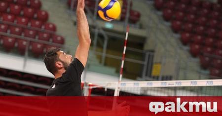 Двама от асовете на националния отбор по волейбол - Цветан