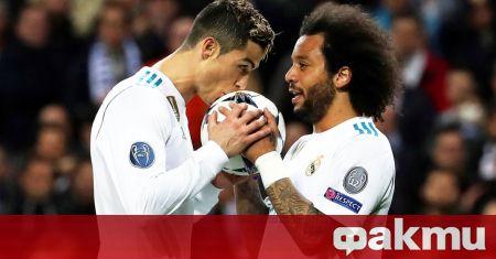 Една от звездите на испанския гранд Реал Мадрид Марсело прикова