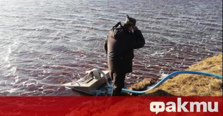 При петролното замърсяване на водите в руския Норилск концентрацията на