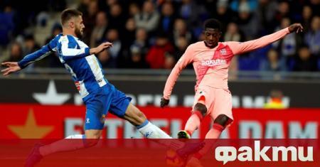 Усман Дембеле попадна в разширената група на Барселона за четвъртфинала