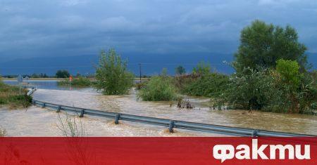 Наводнения в гръцката област Еврос бяха предизвикани след покачване на
