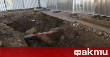 Тежка авария по ВиК мрежата на Хасково е възникнала в