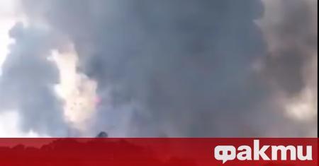 Поредица от големи експлозии са избухнали във фабрика за фойерверки