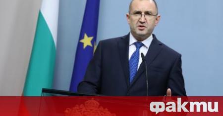 На 24 юни, сряда, от 10.00 часа, президентът Румен Радев