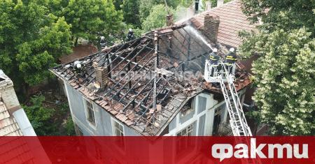 Пожар горя в късния следобед в центъра на Велико Търново.