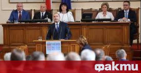Народното събрание ще обсъди ветото на държавния глава Румен Радев