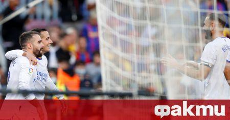 """Реал Мадрид спечели първото """"Ел Класико"""" за сезона с 1:2,"""