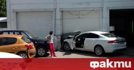 33-годишна рускиня блъсна с белия си Jaguar XF няколко автомобила