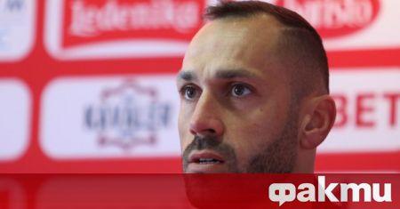 Капитанът на ЦСКА Петър Занев говори преди старта на пролетния