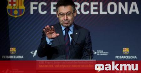 Поставеният под огромен натиск президент на Барселона Джосеп Мария Бартомеу