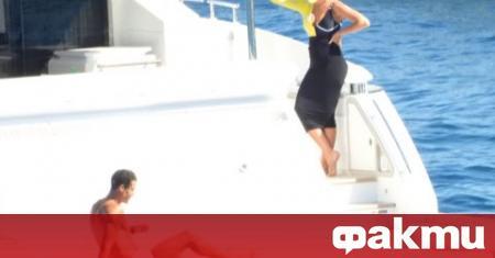 Звездата на Ювентус и Португалия Кристиано Роналдо бе заснет как