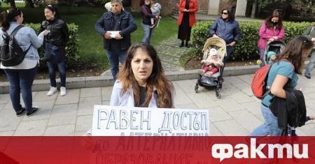 Родители на неприети деца в ясла и детска градина излязоха