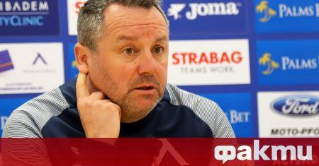 Треньорът на Левски Славиша Стоянович говори пред клубната телевизия преди