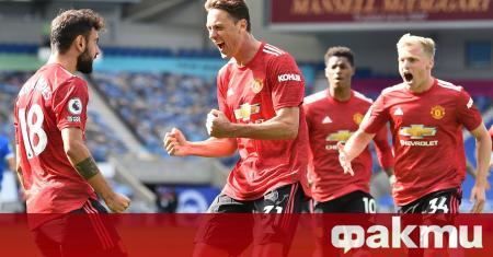 Манчестър Юнайтед победи Брайтън в мач от 3-ия кръг на
