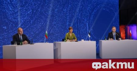 Българският държавен глава обяви прие домакинството на инициативата Три морета.