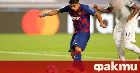 Нападателят Луис Суарес направи емоционално сбогуване с Барселона, в което