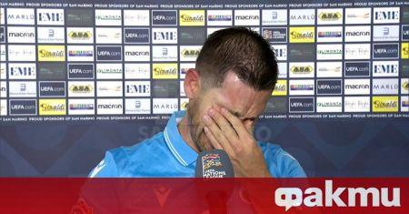 Защитникът на националния отбор на Сан Марино Данте Роси не