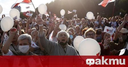 Хиляди противници на беларуския президент Александър Лукашенко се събраха в