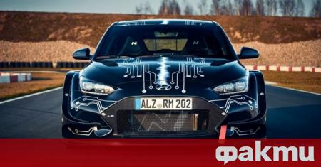 Hyundai представи електрическия хечбек RM20e на автомобилното изложение в Пекин.