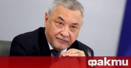 Лидерът на НФСБ и заместник - председател на парламента Валери