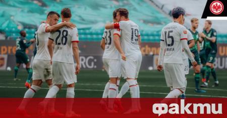 Отборът на Айнтрахт Франкфурт спря серията си от шест поредни