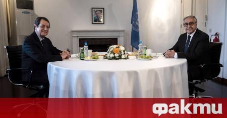 Президентът на Кипър Никос Анастасиадис и новоизбраният лидер на кипърската