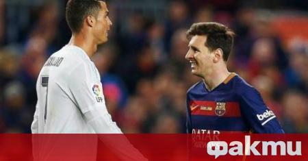 Мега звездите на световния футбол Лионел Меси и Кристиано Роналдо