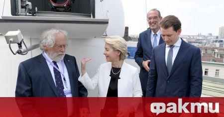 Европейският председател Урсула фон дер Лайен е на посещение в