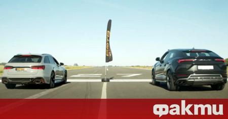 Британският YouTube-канал Archie Hamilton Racing организира драг състезание между Lamborghini