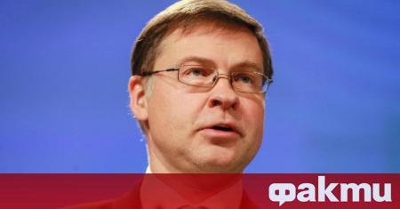 Еврокомисарят, отговарящ за икономиката в интерес на хората Валдис Домбровскис