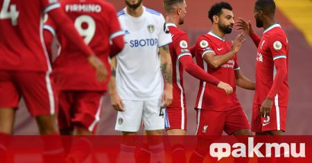 Защитата на титлата в Англия за Ливърпул започна с инфарктна
