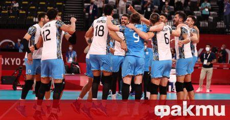 Волейболистите на Аржентина записаха втори поредни сензационен, но напълно заслужен