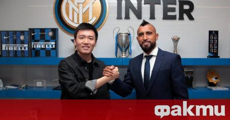 Артуро Видал официално е играч на Интер, обявиха от италианския