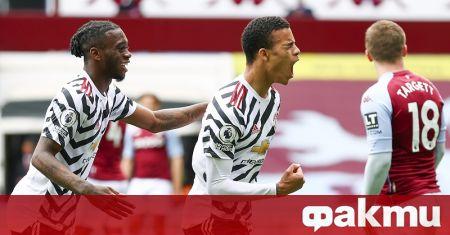 Манчестър Юнайтед осъществи обрат от 0:1 до 3:1 срещу Астън