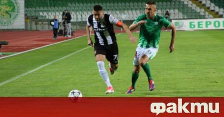 Мартин Камбуров вкара и двата гола за Берое при победата