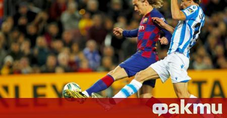 Нападателят на Барселона Антоан Гризман е в най-лошата си серия