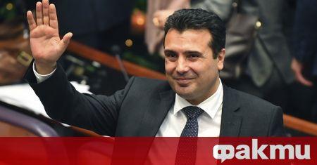 Премиерът на Република Северна Македония Зоран Заев, придружаван от вицепремиера