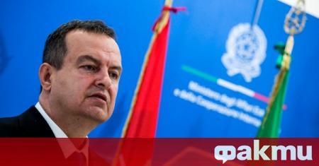 Сръбският външен министър Ивица Дачич коментира решението на Гърция да