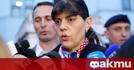 Главният прокурор на ЕС Лаура Кьовеши пристига на двудневно посещение