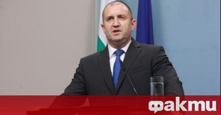 Речта на Румен Радев, на която той обяви, че президентската