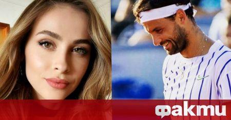 Най-добрият български тенисист Григор Димитров и неговата приятелка Лолита Османова