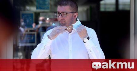Снимка: Лидерът на ВМРО-ДПМНЕ е болен от коронавирус
