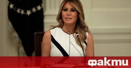 Дървена статуя на първата дама на Съединените щати Мелания Тръмп