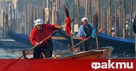Някои канали във Венеция пресъхнаха заради необичайно ниските води няколко