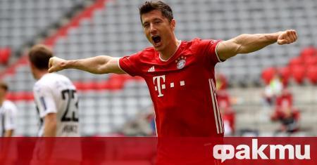 Нападателят на Байерн (Мюнхен) Роберт Левандовски изигра най-силния сезон в