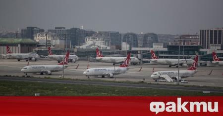 Основният турски авиопревозвач обяви възобновяване на международните полети, съобщи агенция