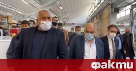 Премиерът Бойко Борисов е на инспекция в завод в Пловдив,