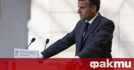 Гражданин удари през лицето френския държавен глава Еманюел Макрон, съобщи