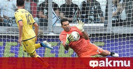 Вратарят на Ювентус Джанлуиджи Буфон постави пореден рекорд в забележителната