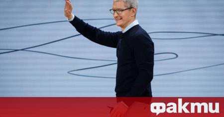 С 5% се повиши цената на акциите на Apple Inc.